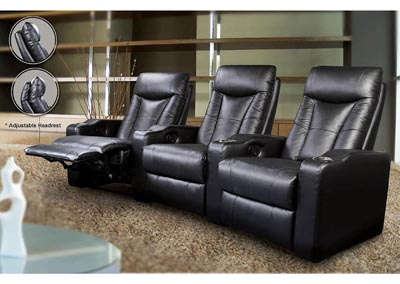 Image for Pavillion Black Right Recliner