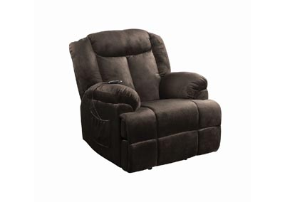 Image for Licorice Casual Chocolate Velvet Power Lift Recliner