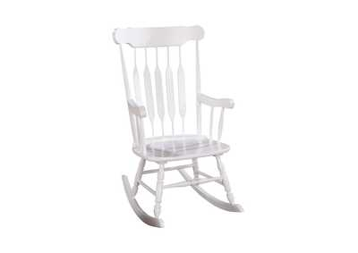 White Traditional White Rocking Chair