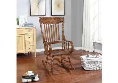 Warm Brown Traditional Wooden Rocking Chair,Coaster Furniture