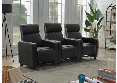 Image for Toohey Black 3 Piece 3-Seater Home Theater