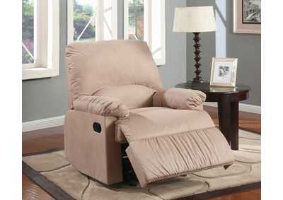 Vanilla Casual Brown Glider Recliner