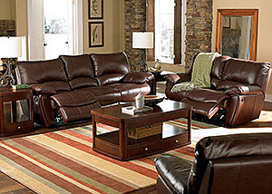 Image for Clifford Dark Brown Motion Sofa & Love Seat