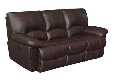 Image for Woody Brown Clifford Motion Dark Brown Double Power Reclining Sofa
