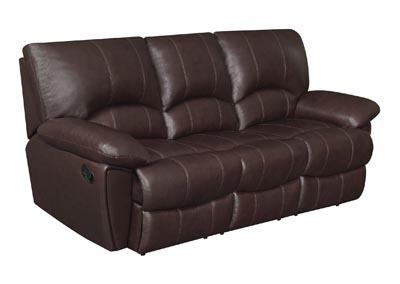 Woody Brown Clifford Motion Dark Brown Sofa,Coaster Furniture