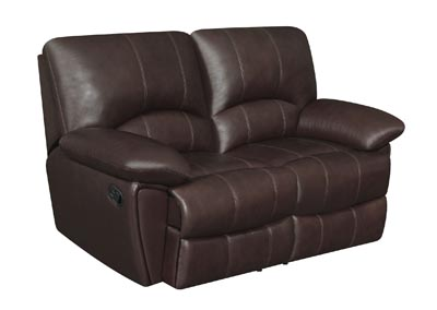 Cocoa Brown Clifford Motion Double Reclining Loveseat,Coaster Furniture