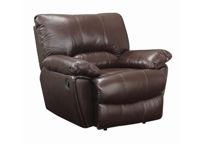 Licorice Clifford Motion Dark Brown Glider Recliner,Coaster Furniture