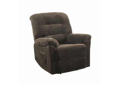 Armadillo Chocolate Power Lift Recliner