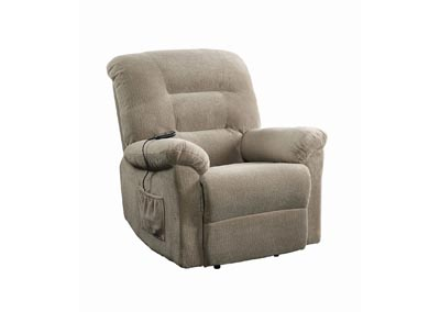 Crocodile Taupe Power Lift Recliner
