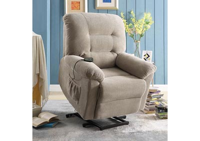 Crocodile Taupe Power Lift Recliner,Coaster Furniture