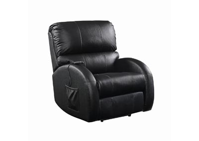 Eerie Black Casual Black Power Lift Recliner
