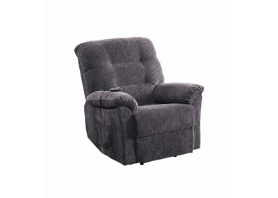Emperor Casual Dark Grey Power Lift Recliner