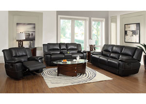 Image for Lee Black Reclining Sofa & Loveseat