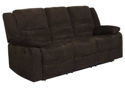 Image for Eerie Black Gordon Chocolate Reclining Sofa