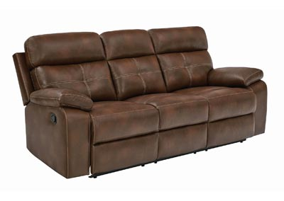 Judge Gray Damiano Transitional Brown Motion Sofa