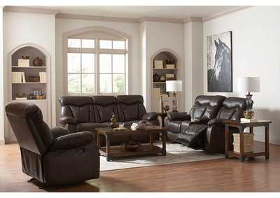 Eerie Black Zimmerman Casual Dark Brown Motion Sofa,Coaster Furniture