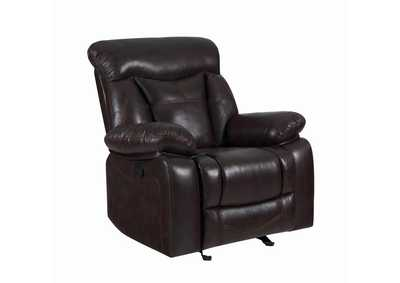 Eerie Black Zimmerman Casual Dark Brown Glider Recliner,Coaster Furniture