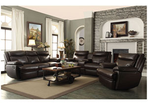 Image for Brown Power Reclining Sofa & Loveseat