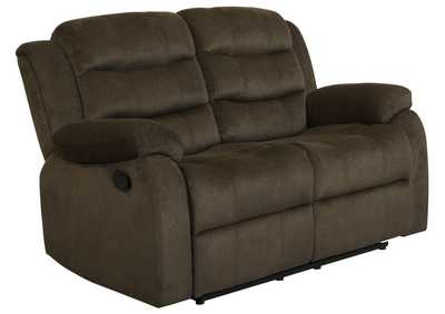 Judge Gray Rodman Chocolate Reclining Loveseat,Coaster Furniture