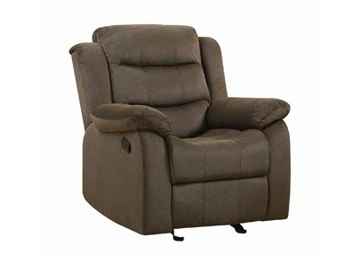 Kabul Rodman Casual Chocolate Glider Recliner,Coaster Furniture