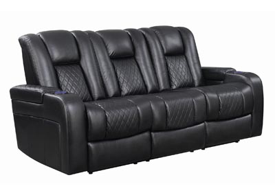 Eerie Black Delangelo Black Power Motion Reclining Sofa