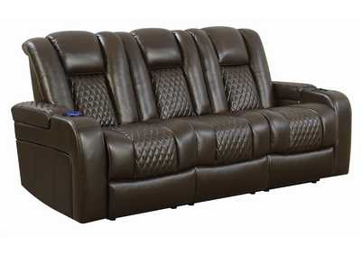 Birch Delangelo Brown Power Motion Reclining Sofa