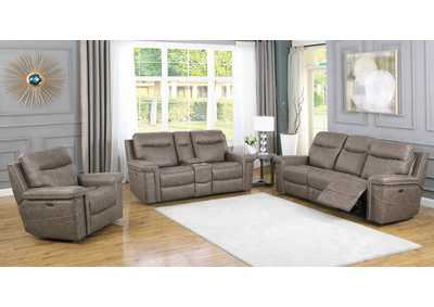 Image for Wixom Taupe Power Sofa, Recliner & Loveseat
