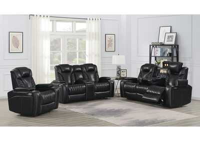Image for Eerie Black 3 Piece Power Reclining Living Room Set