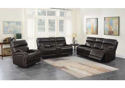 Image for Satin Linen 3 Piece Power Reclining Sofa Set
