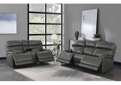 Image for Gray 2 Piece Power Reclining Sofa Set