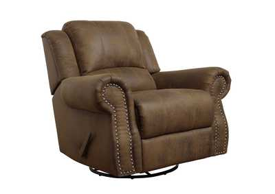 Iroko Sir Rawlinson Brown Swivel Rocking Recliner