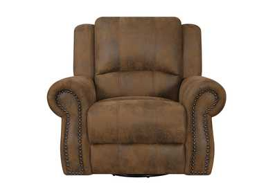 Iroko Sir Rawlinson Brown Swivel Rocking Recliner,Coaster Furniture