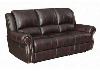 Woody Brown Sir Rawlinson Traditional Burgundy Motion Sofa