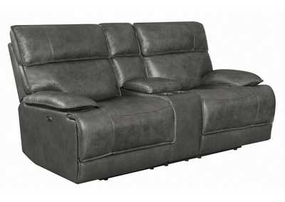 Fuscous Gray Standford Casual Charcoal Power Loveseat
