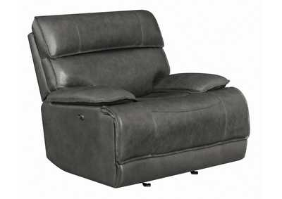 Fuscous Gray Standford Casual Charcoal Power Glider Recliner