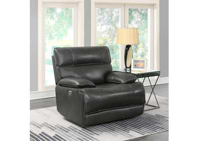 Fuscous Gray Standford Casual Charcoal Power Glider Recliner,Coaster Furniture