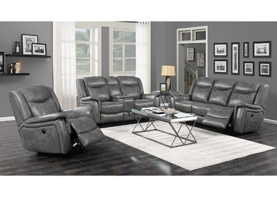 Tundora Conrad Transitional Grey Motion Sofa,Coaster Furniture