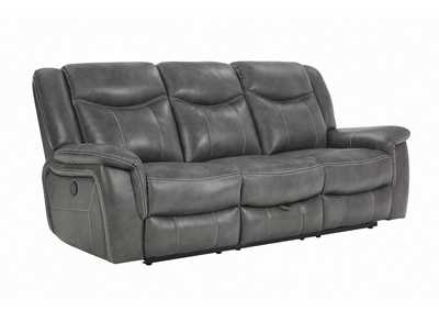 Granite Gray Conrad Transitional Grey Power Sofa