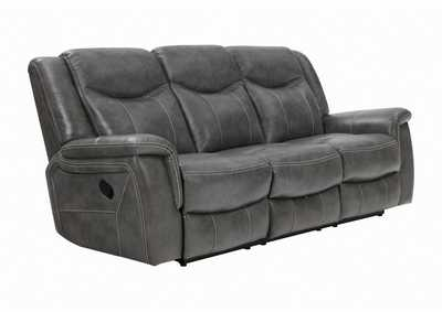 Tundora Conrad Transitional Grey Motion Sofa