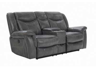 Tundora Conrad Transitional Grey Power Loveseat,Coaster Furniture