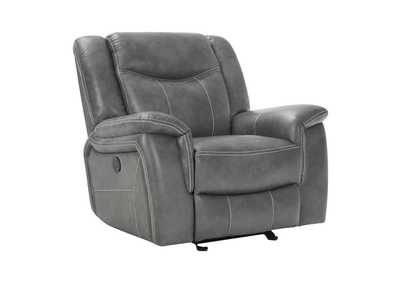 Tundora Conrad Transitional Grey Power Recliner,Coaster Furniture