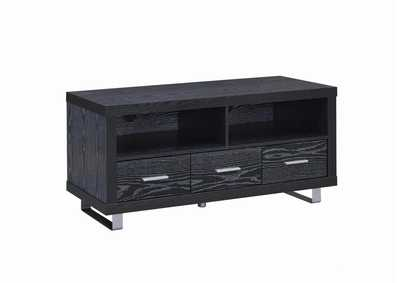 Image for Black Oak Contemporary Black Oak TV Console