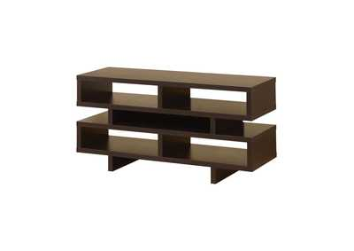 Image for Cappuccino Contemporary Cappuccino Open Storage TV Console