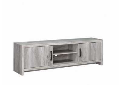 Image for Grey Driftwood Modern Grey Driftwood TV Console