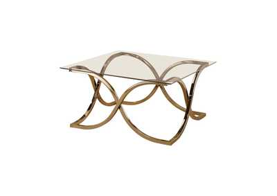 Pearl Bush Contemporary Nickel Coffee Table