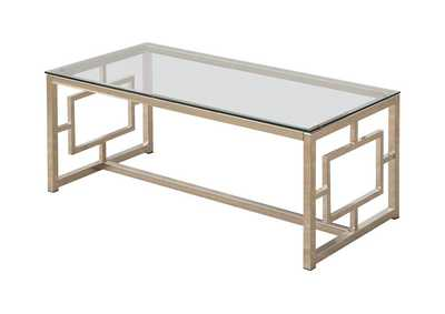 Alto Occasional Contemporary Nickel Coffee Table