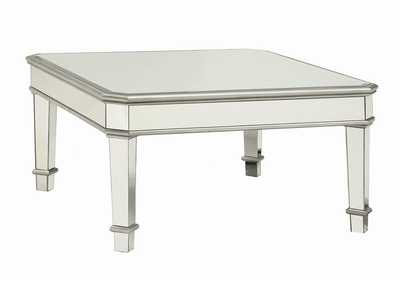 Silver Transitional Silver Coffee Table