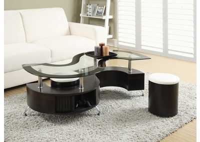 Image for Cappuccino Delange Motion White Coffee Table