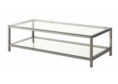 Bianca Contemporary Black Nickel Coffee Table,Coaster Furniture