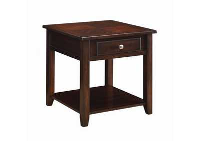 Walnut Transitional Walnut One-Drawer End Table